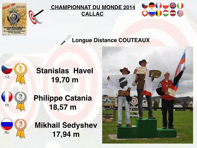 Podium knife long distance male