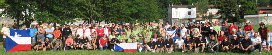 Participants of the World Championship in Knife and Axe Throwing, July 2016, Maniago, Italy.
