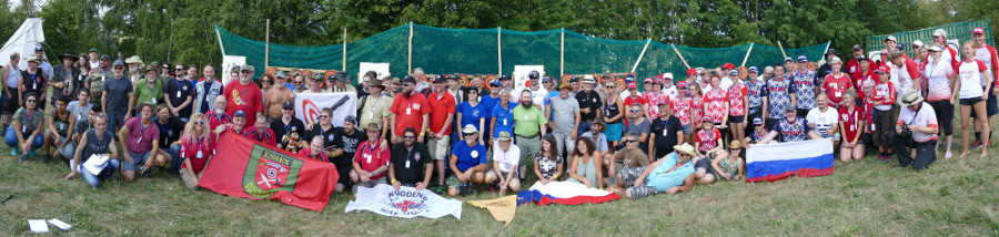 Group photo of the participants of the 18th World Championship in Knife Throwing and Axe Throwing 2018. Click for larger image.