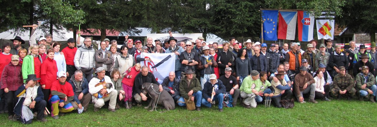 Group photo of the participants of the 13th European Championship in Knife and Axe Throwing 2013.