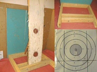 Winter indoor knife throwing target of Philippe Catania.