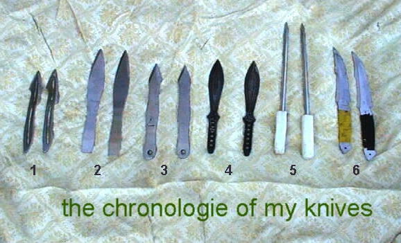 The throwing knife collection of Philippe Catania.